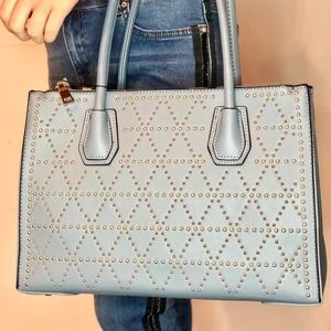 Light Blue Leather Bag